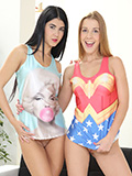 Lady Dee & Alexis Crystal in MFF threesome with a complete stranger